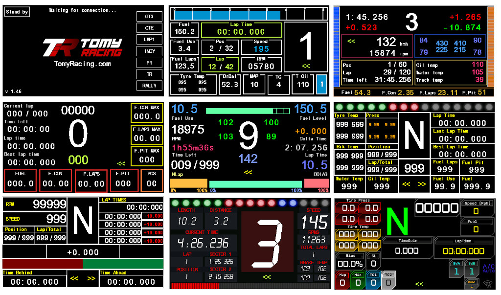 Sim Racing Devices - Dashboard TOMY D2 4 3